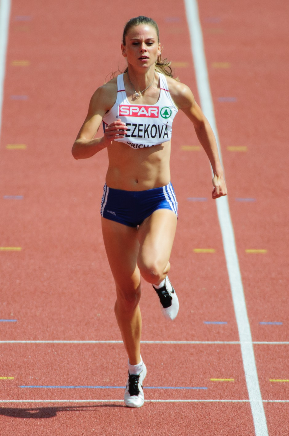 Alexandra Bezeková, beh na 100m žien počas Majstrovstiev Európy v atletike 2014, Utorok 12.Augusta 2014, Zurich, Švajčiarsko