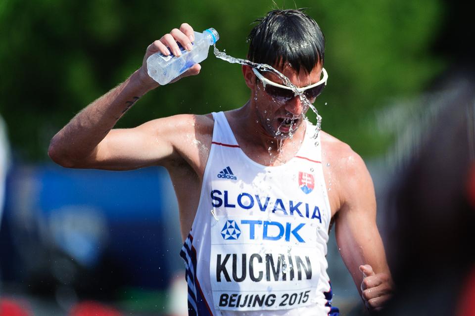 Anton Kučmín pri chôdzi na 20km počas Majstrovstiev sveta v atletike 2015, Peking, Čína, Nedeľa 23. Augusta 2015