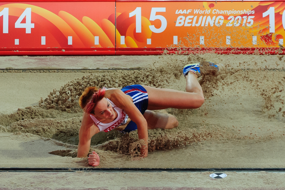 Dana Velďáková v kvalifikácii trojskoku žien počas Majstrovstiev sveta v atletike 2015 nepostúpila do finále a skončila na 15. mieste s výkonom 13,76m, Peking, Čína, Sobota 22. Augusta 2015