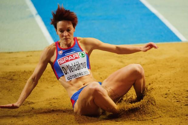 Danka Velďáková v troskoku nepostúpila do finálovej osmičky skokaniek na Majstrovstvách Európy v halovej atletike 2013, Göteborg, Švédsko, Piatok 1.3.2013