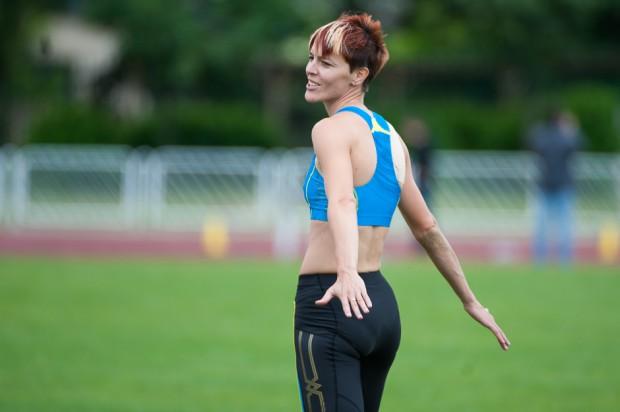 Danka Velďáková po trojskoku na atletickom Grand Prix Slovakia, Košice, Nedeľa 26.5.2013