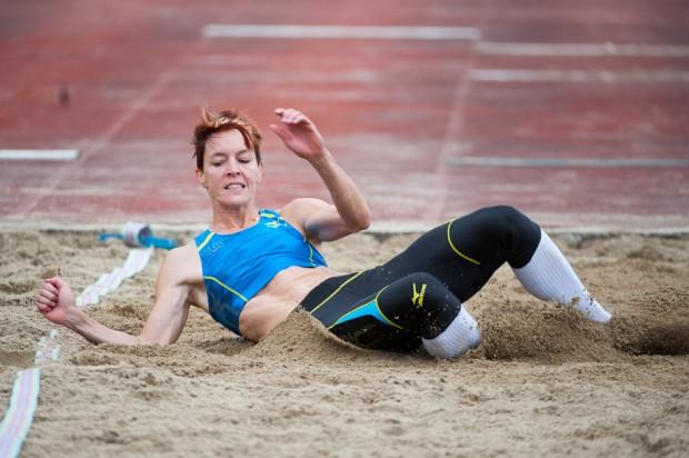 Danka Velďáková na trojskoku počas atletického Grand Prix Slovakia, Košice, Nedeľa 26.5.2013