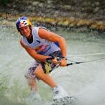 Dominik Gührs počas zahrievacích jázd pred nábehom na rampu. Prebojoval sa až do finálových jázd RedBull Upstream v Čunove a obsadil tretie miesto, Bratislava - Čunovo, 18.6.2011