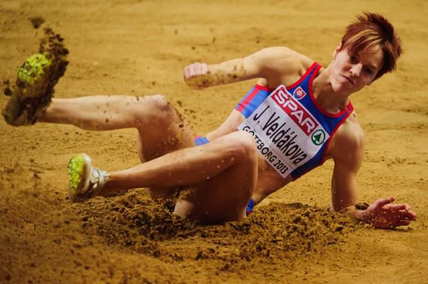 Janka Velďáková v skoku do diaľky, Majstrovstvá Európy v halovej atletike 2013, Göteborg, Švédsko, Piatok 1.3.2013