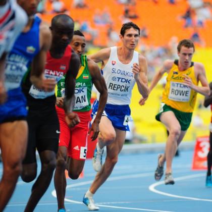 Jozef Repčík v behu na 800m počas Majstrovstiev sveta v atletike. Moskva, Ruská federácia, Sobota 10.08.2013