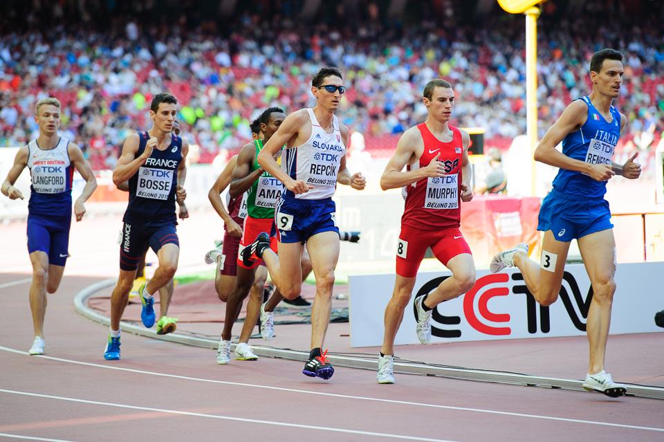 Jozef Repčík počas behu na 800m, kde mu záverečné vystupňované tempo neumožnilo dostať sa do semifinálových behov počas Majstrovstiev sveta v atletike 2015, Peking, Čína, Sobota 22. Augusta 2015