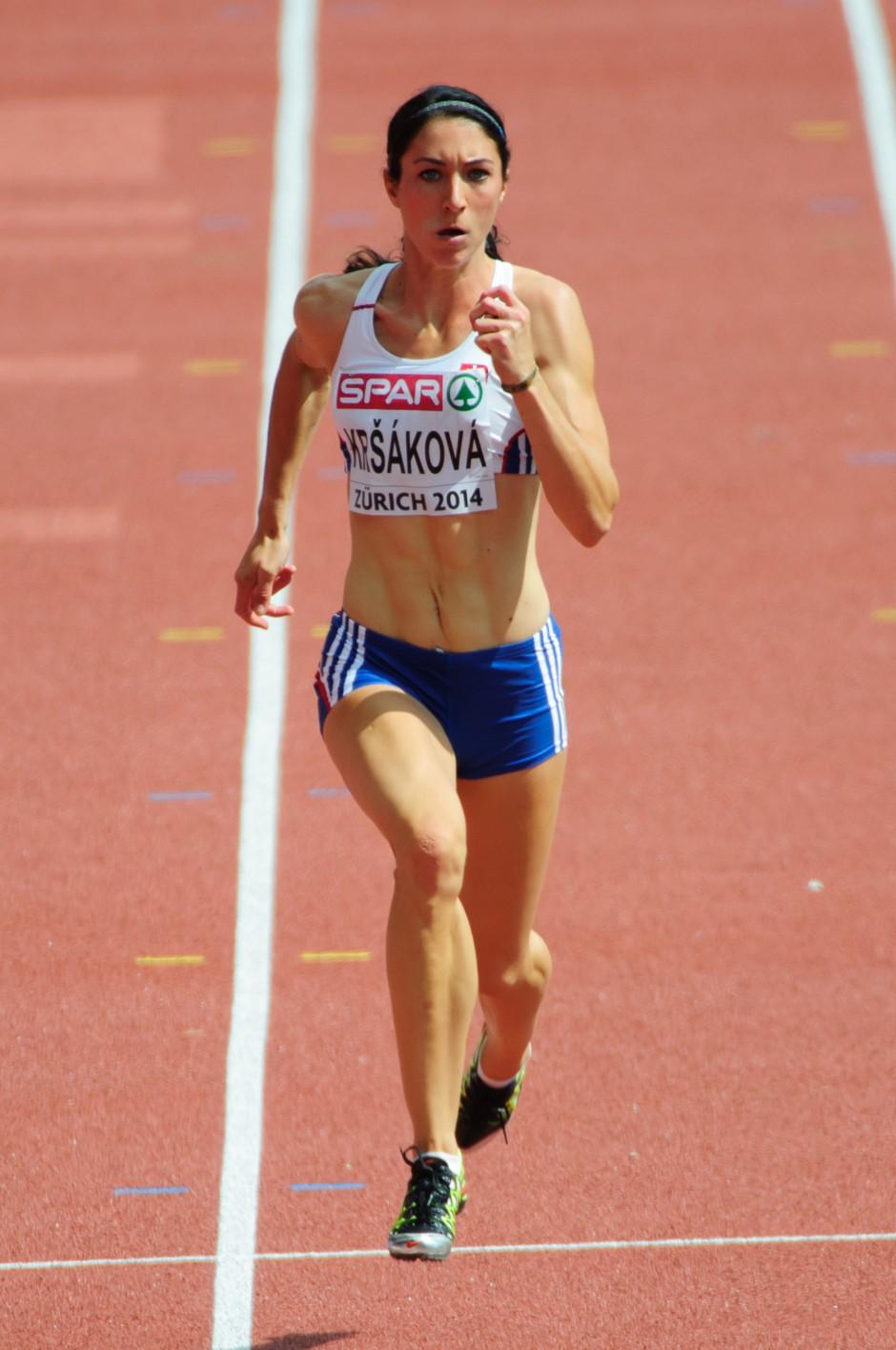 Lenka Kršáková, beh na 100m žien počas Majstrovstiev Európy v atletike 2014, Utorok 12.Augusta 2014, Zurich, Švajčiarsko