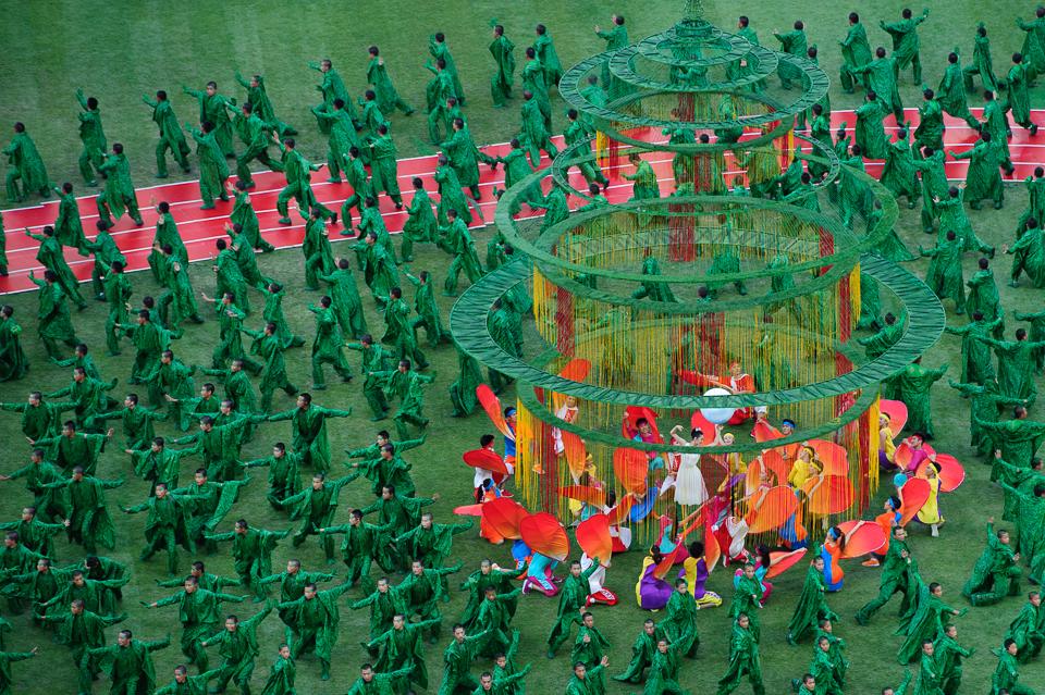 Zábery z otváracieho ceremoniálu Majstrovstiev sveta v atletike, Peking, Čína, Sobota 22.Augusta 2015