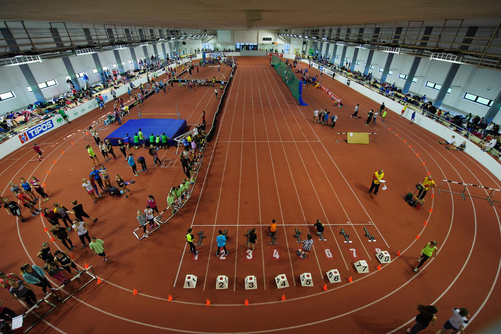 Pohľad na atletickú halu Elán, 13.11.2015, Bratislava, Slovensko