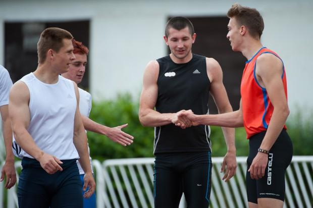 Viliam Papšo po behu na 100m počas atletického Grand Prix Slovakia, Košice, Nedeľa 26.5.2013