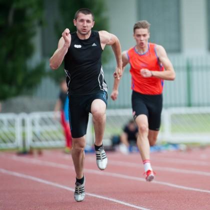Viliam Papšo počas  behu na 100m počas atletického Grand Prix Slovakia, Košice, Nedeľa 26.5.2013