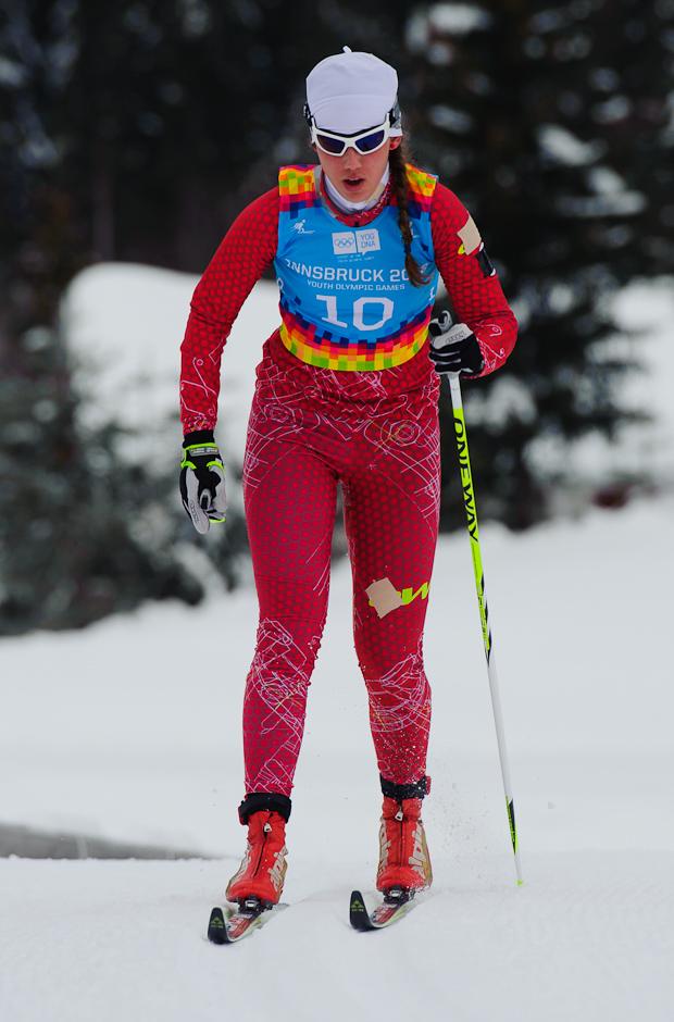 Barbora Klementová na bežeckých pretekoch 5km klasickou technikou počas Zimných Olympíjskych hier mládeže, Seefeld Arena, Innsbruck - Rakúsko, Utorok 17.1.2012