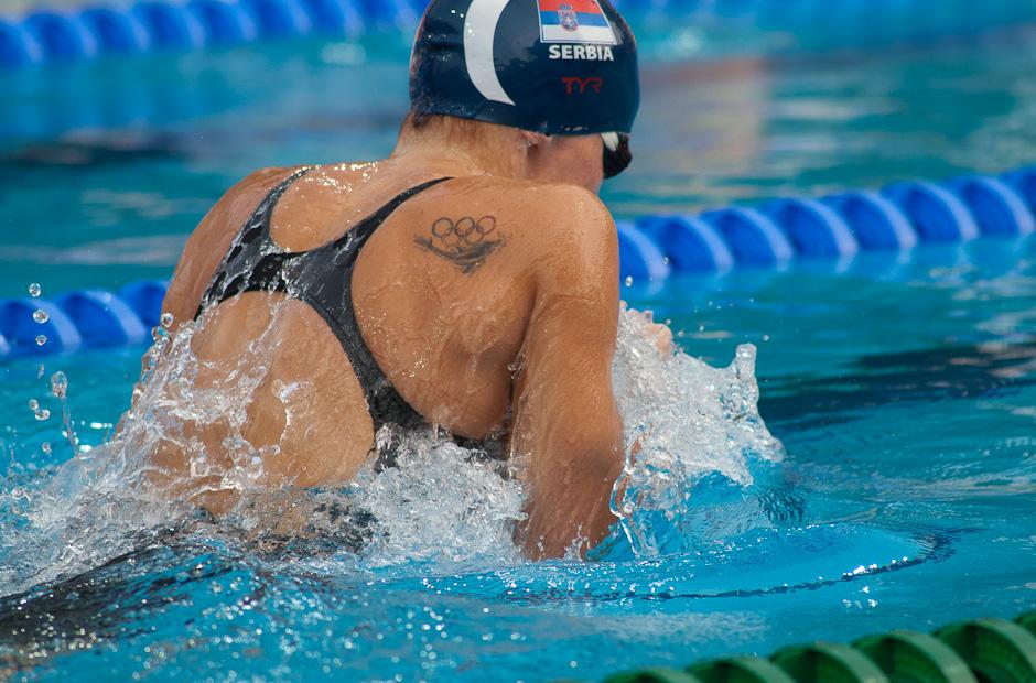Nadja Higl (SRB) vo finále disciplíny 200m prsia obsadila 8. miesto, Majstrovstá Európy v plaveckých športoch, Budapešť - Maďarsko, 13.07.2010