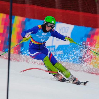 Zjazdárka Petra Vlhová v na bránke v slalome počas Zimných Olympíjskych hier mládeže, Innsbruck - Rakúsko, Piatok 20.1.2012
