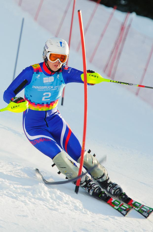 Roman Murín počas druhého preteku superkombinácie - slalomu na Olympíjskych hrách mládeže, Innsbruck - Rakúsko, 15.1.2012