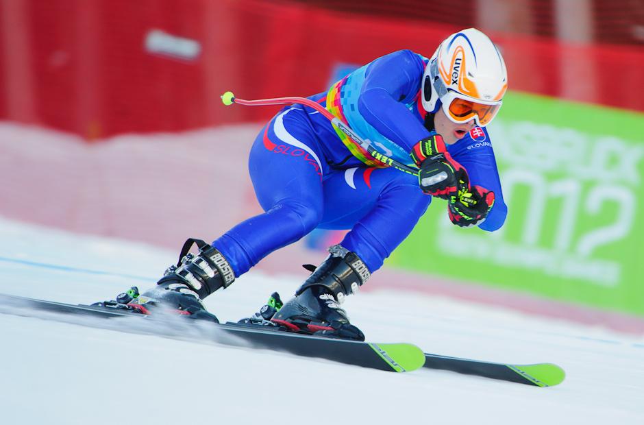Roman Murín v zjazde super-G, prvej časťi superkombinácie dojazdil na 18. mieste na Olympíjskych hrách mládeže, Innsbruck - Rakúsko, 15.1.2012