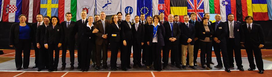 Tím viac ako 50 rozhodcov Memoriálu Ferdinanda de Martinengo (Svetový pohár v šerme juniorov), Bratislava, Nedeľa 18.11.2012
