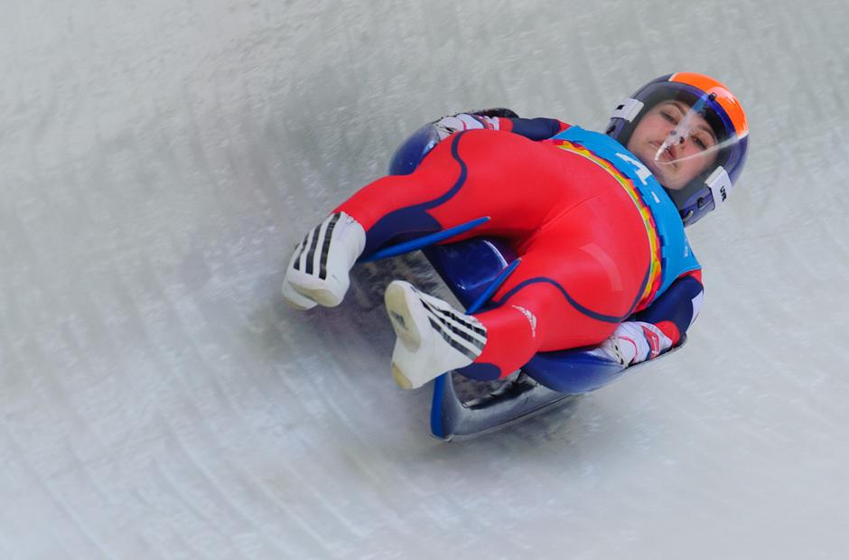 Sánkarka Nikola Drajnová v miešanej štafete na Zimných Olympíjskych hrách mládeže, Innsbruck - Rakúsko, Utorok 17.1.2012
