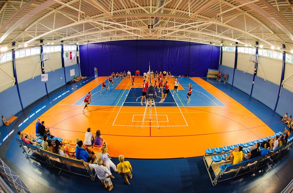 Pohľad do haly prof. Rovného počas Univerziády 2012 na pôde Fakulty telesnej výchovy a športu, Štvrtok, 21.6.2012, Bratislava