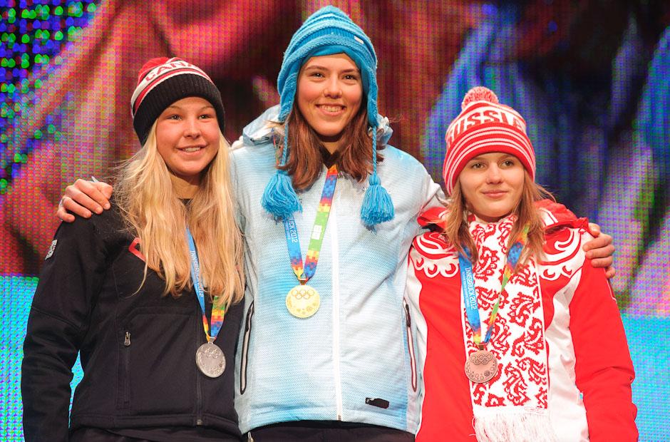 Zlatá medaila pre Petru Vlhovú v slalome na Zimných Olympíjskych hrách mládeže, Innsbruck - Rakúsko, Piatok 20.1.2012